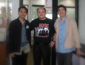Jimmy W.B., Edy Taslim (KOMPAS), Patrick (ELEXMEDIA)